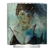 Beautiful Face Shower Curtain