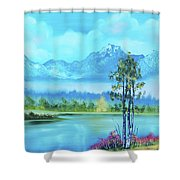 Beautiful Fall Day At The Lake Shower Curtain