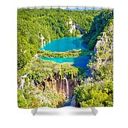 Beautiful Falling Lakes Of Plitvice National Park Shower Curtain