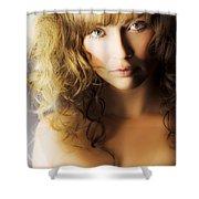 Beautiful Fashion Model Shower Curtain by Jorgo Photography - Wall Art Gallery