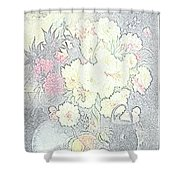 Beautiful Flower Sketch  Shower Curtain