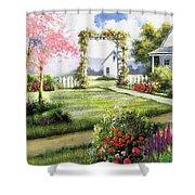 Beautiful Garden Path Shower Curtain
