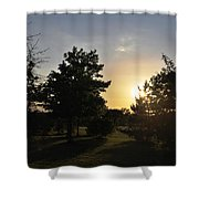 Beautiful Greenery Park In The Afternoon  Shower Curtain