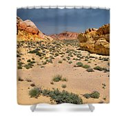 Beautiful Hiking In The Valley Of Fire Shower Curtain