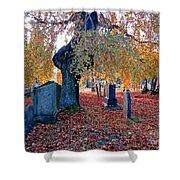 Beautiful Historic Camp Hill Cemetery Halifax Nova Scotia Shower Curtain