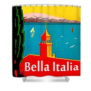 Beautiful Italy, Lake Garda, Riviera Shower Curtain