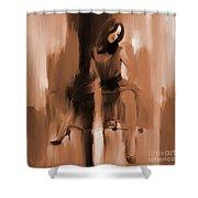 Beautiful Lady 01 Shower Curtain