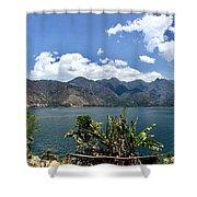 Beautiful Lake Atitlan Shower Curtain