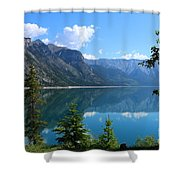 Beautiful Lake Minnewanka Shower Curtain