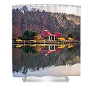 Beautiful Landscape Near Lake Lure North Carolina Shower Curtain