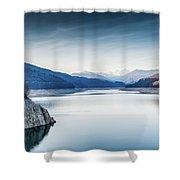 Beautiful Landscape Of The Lake Vidraru Romania Shower Curtain