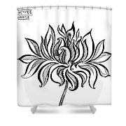 Beautiful Lotus... Black-white Mood Shower Curtain