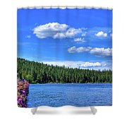 Beautiful Luby Bay On Priest Lake Shower Curtain