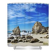 Beautiful Malibu Rocks Shower Curtain