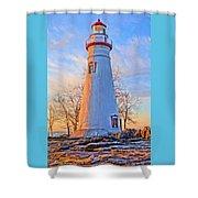 Beautiful Marblehead Lighthouse Shower Curtain