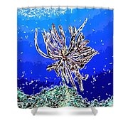 Beautiful Marine Plants 1 Shower Curtain by Lanjee Chee