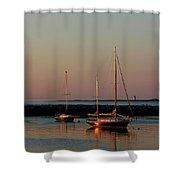 Beautiful Morning Provincetown Pier Shower Curtain