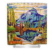 Beautiful Mountainous Reflection  Shower Curtain