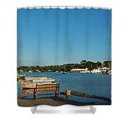 Beautiful Mylor Bridge Shower Curtain