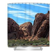 Beautiful Nature Landscape Valley Of Fire  Shower Curtain