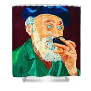 Beautiful Old Blue Eyes Shower Curtain