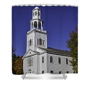 Beautiful Old First Church Shower Curtain