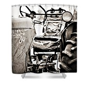 Beautiful Oliver Row Crop Old Tractor Shower Curtain by Marilyn Hunt