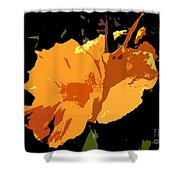 Beautiful Orange Work Number 19 Shower Curtain