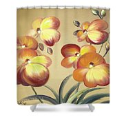 Beautiful Orchid Flowers Shower Curtain