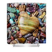 Beautiful Polished Colorful Stones Shower Curtain