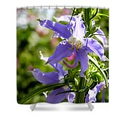 Tall Bellflower Shower Curtain