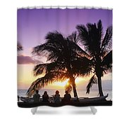 Beautiful Purple Sunset Shower Curtain