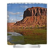 Beautiful Red Rock Formations Near Moab Utah Shower Curtain