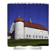 Beautiful Red Roof Barn Shower Curtain