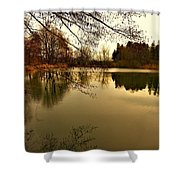 Beautiful Reflection In The Evening Hours Shower Curtain