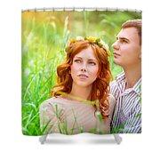 Beautiful Romantic Couple Shower Curtain
