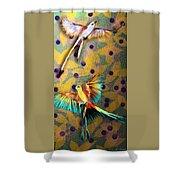 Beautiful Scissor-tailed Flycatchers Shower Curtain
