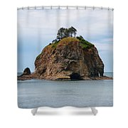 Beautiful Sea Stack Washington Coast Shower Curtain