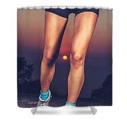 Beautiful Sportive Womens Legs Shower Curtain