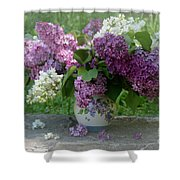 Beautiful Spring Flowers In A Vase Shower Curtain