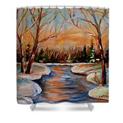 Beautiful  Spring Thaw Shower Curtain
