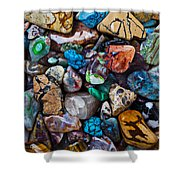 Beautiful Stones Shower Curtain by Garry Gay