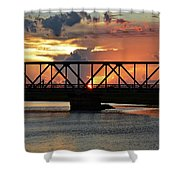 Beautiful Sunset Bridge  Shower Curtain