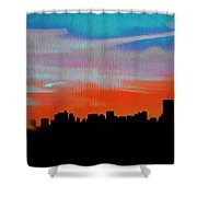 Beautiful Sunset Oil Paint Shower Curtain