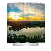 Beautiful Sunset Over Lake Wylie South Carolina Shower Curtain