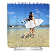 Beautiful Surfer Girl Shower Curtain