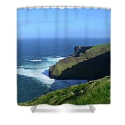 Beautiful Sweeping Views Of Ireland's Cliff's Of Moher Shower Curtain