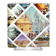 Beautiful Vacation Collage  Shower Curtain