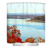 Beautiful View Of The Hudson River 1 Shower Curtain