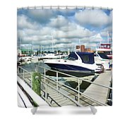 Beautiful View On The Elizabeth 7 Shower Curtain by Lanjee Chee
